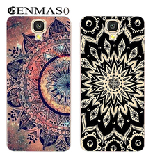 Cenmaso Case UHANS A101 A101S classic flower painted Soft Silicone Cover 5.0 inch Phone capa tpu - HC Digital Store store