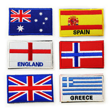 National Flag Spain Russian Flag Patch Armband Embroidered Standard Customized Eu Member 3d Embroidered Fabric Design Badge