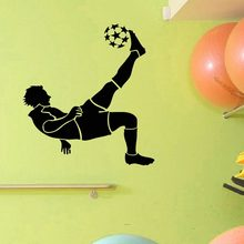 Football Player Sticker Sports Soccer Decal Helmets Kids Room Name Posters Vinyl Wall Decals Parede Decor Mural Football Sticker(China)