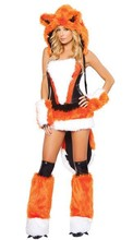 Free Shipping New Arrival Orange Fur Sexy Fox Cosplay, Women Halloween Costumes, Sexy Fancy Dress Sexy Cat Girl Costumes