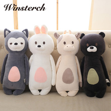 60cm Cute Plush Bunny Fox Bear Cow Toys Pillow Plush Toys Soft Stuffed Animal Rabbit Dolls Baby Kids Gifts Brinquedos WW337