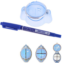 High quality Plastic Golf Ball Liner Marker Template Drawing Alignment Tool Plastic + Pen Blue Golf Training Accessories(China)