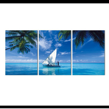 3 Panel Canvas Art Framed Wall Fashion sail Ocean Modular Painting print on Canvas Picture Print Home Decoration for Living Room(China)