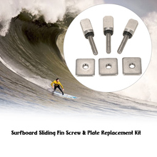 3sets Surfboard Longboard Sliding Fin Screw & Fin Plate Replacement Kit for Stand Up Paddle Body Board Surfing Accessories M1767