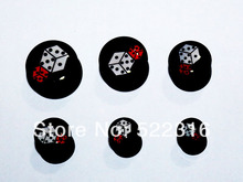 free shipping ear body piercing logo picture mix sizes white and red dices ear plugs body jewelry wholesale eartunnel stretchers(China)