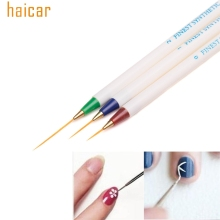 HAICAR ColorWomen 3PCS/set Nail Art Design Dotting Painting Drawing Brush Pen Tools 160715 Drop Shipping