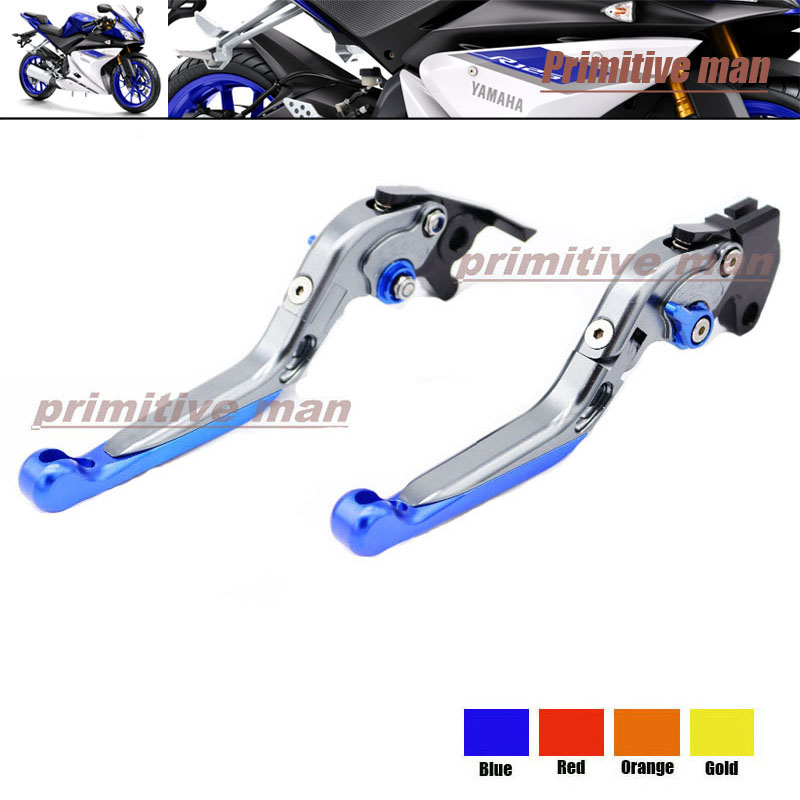 For YAMAHA YZF R125 2014-2015 Motorcycle Accessories Adjustable Folding Extendable Brake Clutch Levers Blue<br><br>Aliexpress