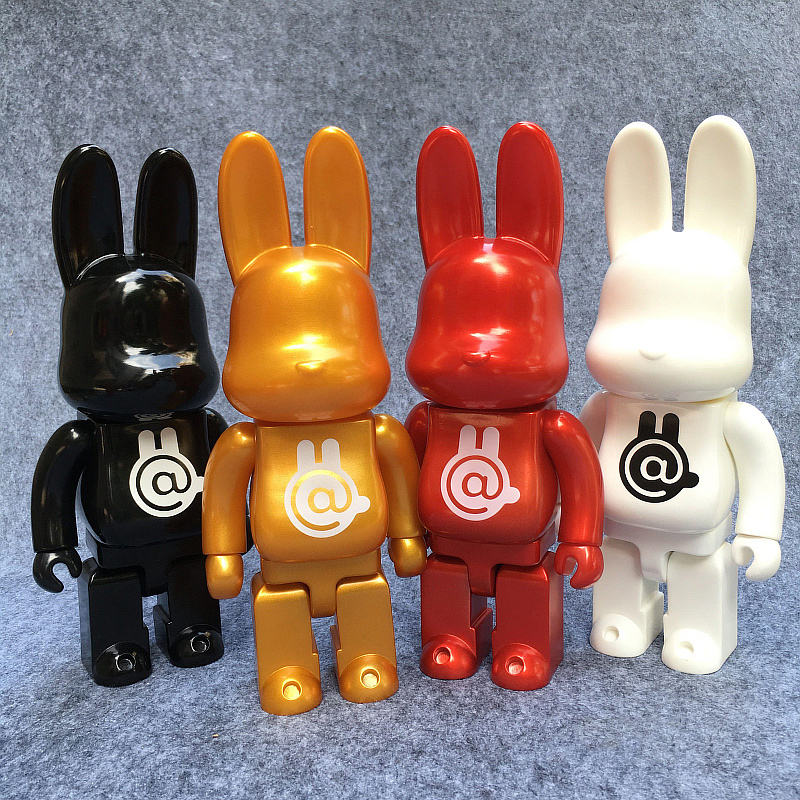 Vinyl Doll 400% Bearbrick Cospaly Fashion Valentine Pretty Rabbit PVC Action Figure In Retail Box<br>