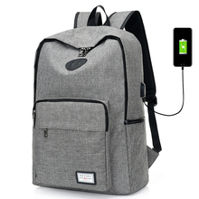 USB Charging Unisex Design Book Bags for School Travel Women Backpack Casual Rucksack Canvas Laptop Preppy Style Man Backpacks