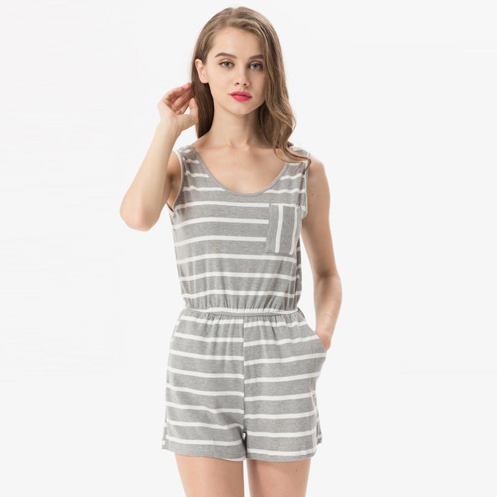 Siskakia mody młodzieżowej Letnie nastolatek dziewczyny Playsuit Przebrania paski patchwork slim fit krótkie elegancki 100% bawełna odzież różowy 17