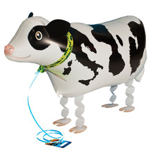63x48cm walking animal balloon inflatable cow toys baloon party decoration supplies birthday walking cow balloons(China)
