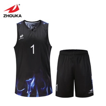 Custom your team high quality breathable basketball sport clothes quick dry men basketball training shirt and shorts(China)