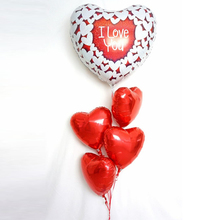5pcs/lot 36inch LOVE heart Balloon Supersize Large Red Foil Balloons Party Say Love wedding Decoration Marriage Ballon Supplies
