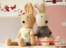 Candice guo! new arrival plush toy le sucre rabbit bunny dress sweater style stuffed doll kids girls lovers birthday gift 1pc(China)