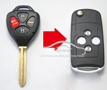 4 Buttons Car Key Case 3+1 Buttons For Toyota Camry Taiwan Wish Modified Folding Flip Remote Key Shell