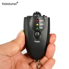 Kebidumei Professional Keychain Alcohol Breath Tester Breathalyzer Portable Red Light LED Flashlight Alcohol Tester Analyzer(China)
