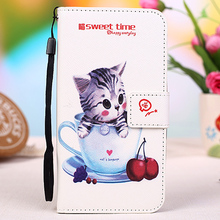 "12 Color Cartoon printed universal flip leather phone case For Micromax Bolt Supreme 2 Q301 4.0"" + Lanyard Gift + Tracking Code"