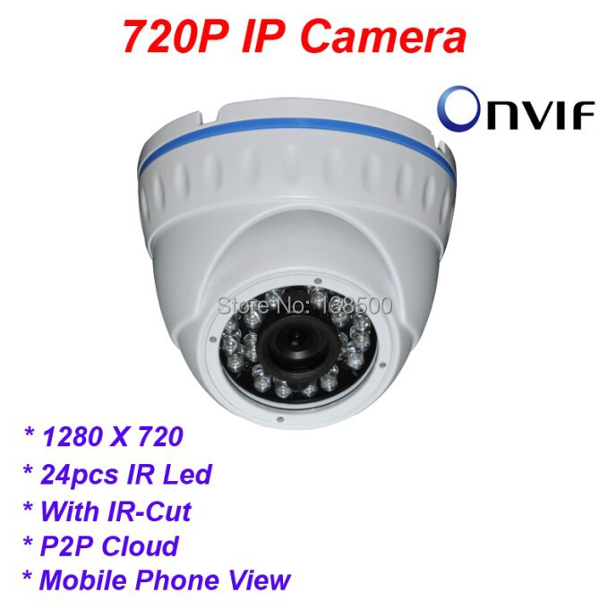 Free Shipping Wholesale 720P IP Camera Mini Dome Mobile Phone Monitoring IR Night Vision Indoor Home Seucrity P2P Onvif<br><br>Aliexpress