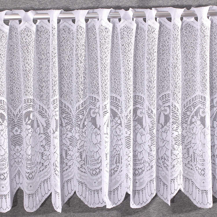 Warp Knitted Jacquard Door Curtain, Full Polyester Lace Curtain, Kitchen Curtain Decorative Curtain L45cmXW150cm