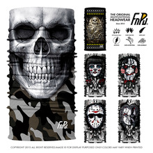 EXPRESS SHIPPING Skull Bandanas Cycling Riding Running Magic Seamless Bandana Headwear Coif Skeleton Ghost Sport Coif 50pcs/lot(China)