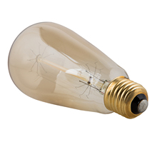 Filament Light Bulb Tungsten Pendant Vintage Decorative Industrial edison light(ST64 40W 220V)(China)