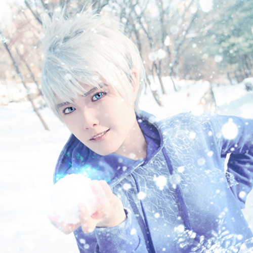 Free Shipping 30cm Men Short Sliver White Rise of the Guardians Jack Frost Wig Cosplay<br><br>Aliexpress