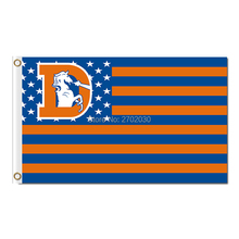 US Banner Usa Old Logo Denver Broncos Flag NF*L Flag Orange Wild And Broncos Blue 3 Ft X 5 Ft 100 D Polyester Broncos Banner(China)