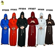 Men's Monk Medieval Renaissance Priest Costume Halloween Party Cosplay Friar Men For Male Role Play Friar Monk Costumes(China)