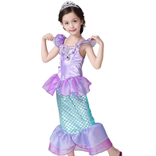 Kids Costumes Girls Cospaly Dresses little mermaid Ariel Princess Costume,fantasia infantil,halloween,christmas girl dress