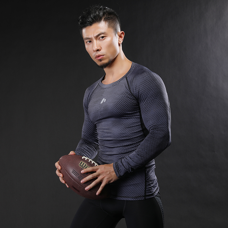 2017 new listing Long Sleeve T-shirts Men Compression Shirt Men's MMA Tshirt Quick dry Workout Bodybuilding Fitness Tops T shirt
