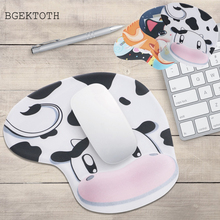 BGEKTOTH NEW 1pc Mousepad Cute Cartoon Animal Silicone Anti Slip Memory Foam Wrist Rest Support Mouse Pad DN001(China)