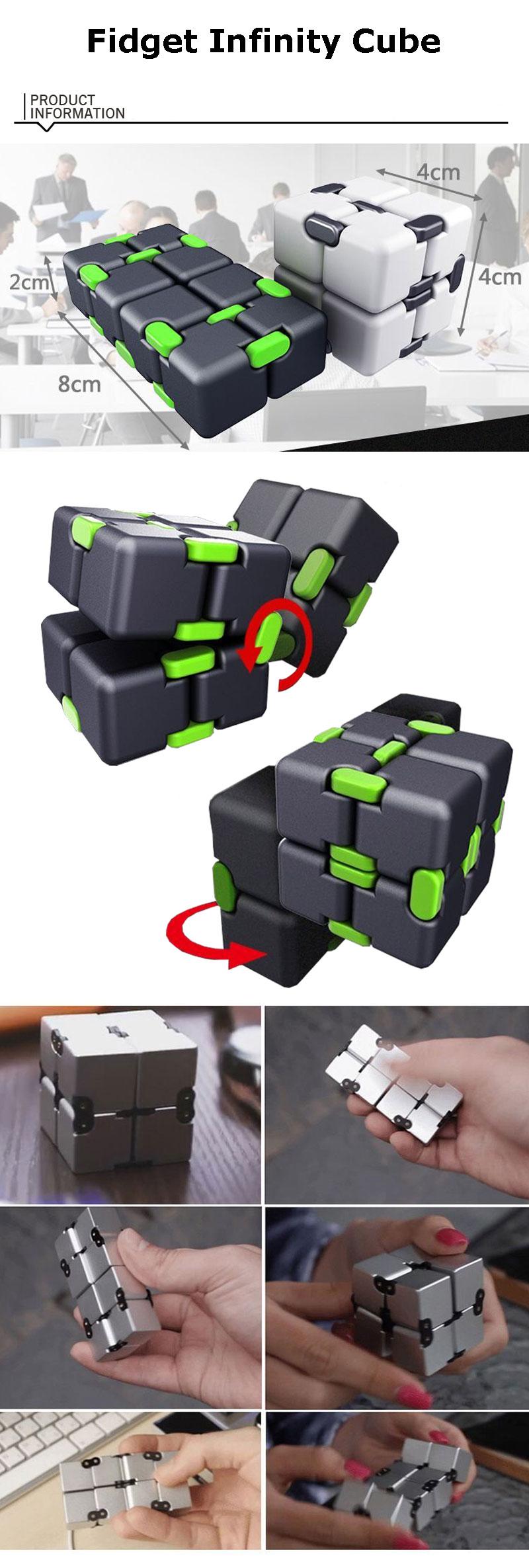 Infinity Cube 2 Metal High Quality EDC Creative Fidget Cube