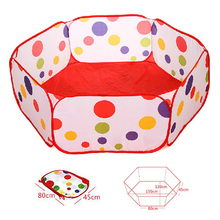 1.5M Kids Play Game House Foldable Tent Pool Children Tent Polka Dot Ocean Ball Pool Baby Educational Toys 88 M09