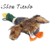 Duck Stuffed Plush Toy Duck Creaking Horn Duck Pet Chew Squeaker Squeaky Toys Drop Shipping(China)