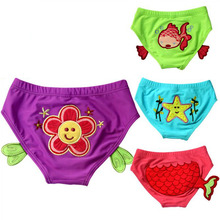 Buy 1-2 Years Baby Swimwear trunks, Polyester Boys Girls Cartoon Briefs , Children Panties Lovely Bathing wear Shorts babys Swimming