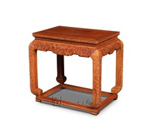 Carving Cloud-Dragon Pattern Small Tea Coffee Table Rosewood Living Room Console Tables Solid Wooden Furniture Red Wood Low Desk
