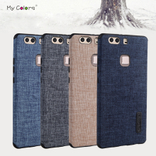 High quality Non-slip phone case for Huawei P9 Plus luxury Cloth+TPU material back soft case cover for Huawei P9Plus
