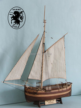 NIDALE model Hobby ship model kit scale 1/50 CHAPMAN sloop scale wooden Sailboat model(China)