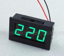 1pc Green 0.56 inch AC70-500V Digital Voltmeter Voltage Panel Meter LED Digital Voltmeter Voltage Display 2 Wires 48*29*20mm