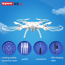 Buy SYMA X5SC Quadrocopter 2.4G 4CH 6-Axis Headless Helicopter RC Drone 2.0MP HD Camera Professional Aerial Remote Control Dron for $47.50 in AliExpress store