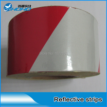 Reflective Tape Red White 983D, Safety Traffic Signs For Cars, Trucks, Highways and City Road, 5CM*45.7M/roll(China)