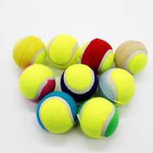 8cm Giant Tennis Ball For Pet Chew Toy Rubber Tennis Ball Signature Large And Small Pet Toy Ball Supplies Outdoor Toys(China)