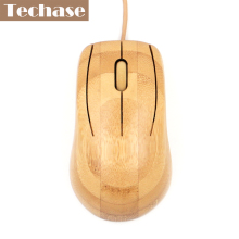 Bamboo Wired Mouse Mini Opitcal USB Interface Type Stock For Laptop Top Quality FCC/CE Best Price Wooden Mouse For Computer(China)