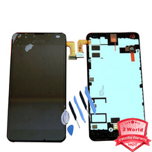 Original For Nokia Microsoft lumia 550 LCD Display + Touch Screen Digitizer Assembly bezel Frame + tool