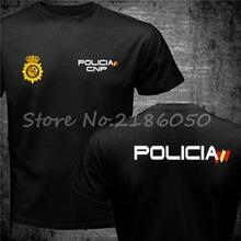 Cool Tops Swat Cnp Men t-Shirt Police National Spain Anti-Riot Special-Forces Geo Espana