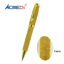 ACMECN Original Design Unique Metal & Fabric Ballpoint Pen for Special Store Office Writing Instruments Cute Stationery Items(China)