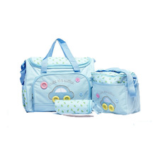 4pies Mummy Bag Set Car Pattern 2 Szie Mummy Bags+ Warmer Packer+ Dipaer Mat  Waterproof Separate Bag Nappy  Diaper Organizer
