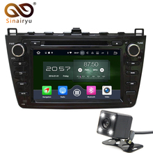 "8"" 1024*600 ROM 32GB Octa Core Android 6.0.1 Car DVD Player Fit Mazda6 Mazda 6 2008-2012 Stereo Radio 4G WiFi GPS Navigation(China)"