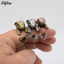 Elfin 2017 Vintage Adjustable Netherland Dwarf Rabbit Ring Men Fashionable Cute Jewellery Rings For Women Anillos Mujer Warcraft