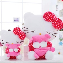 40cm 60cm Cute Hello Kitty Stuffed Plush Toy Kawaii KT Dool Kids Toy Girl Birthday Lovers Christmas Present Free Shipping